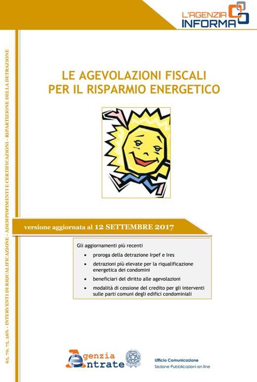 Agevolazioni fiscali 09-2017