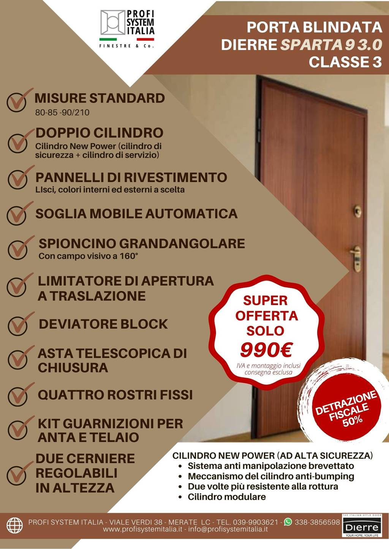 Nuovo Porta blindata Dierre Sparta 9 3.0